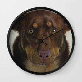 Aussie and Kelpie Wall Clock