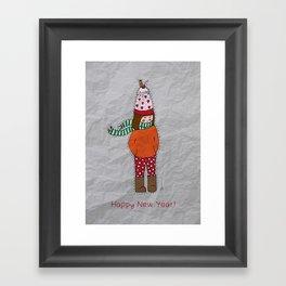 New Year Girl!  Framed Art Print