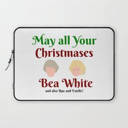 May all your Christmases Bea White Laptop Sleeve