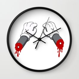 Cut Your Hand Wall Clock