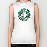 snatch Biker Tanks featuring Squats and Espresso Logo by Squats and Espresso