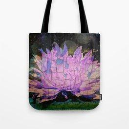 Crackling Lonesome Flower Tote Bag