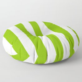 Microsoft green - solid color - white vertical lines pattern Floor Pillow