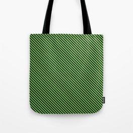 Green Flash and Black Stripe Tote Bag