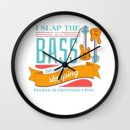 Bass Guitar Player Teacher Rock Band Wall Clock