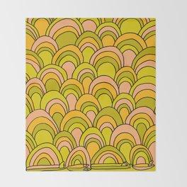 surfboard quiver 70s wallpaper dreams Throw Blanket