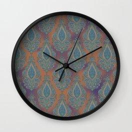paisley in cinnamon Wall Clock