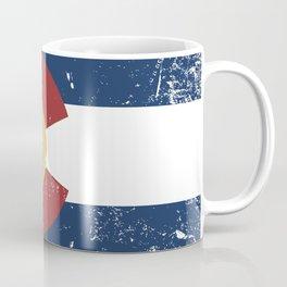 Distressed Colorado Flag Coffee Mug