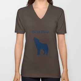 Wolf On The Prawl Unisex V-Neck