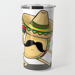 Cinco De Mayo -  Taco Dancing Sombrero Maracas Travel Mug