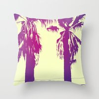 palms Throw Pillows featuring Palms by Giuseppe Cristiano