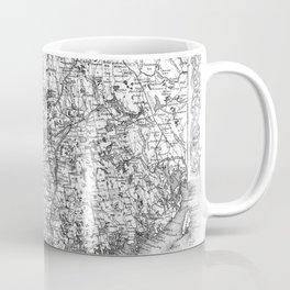 Vintage Map of Maine (1894) BW Coffee Mug