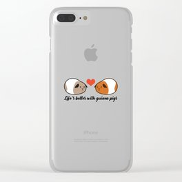 Life's better with guinea pigs - Love Clear iPhone Case