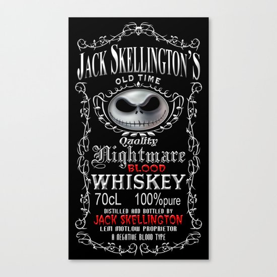Halloween Parody Nightmare jack skellington Canvas Print