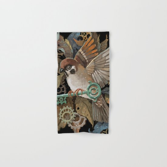 Clockwork Sparrow Hand & Bath Towel