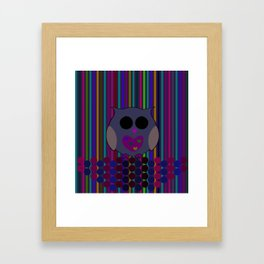 owl/colorful/bright/ Framed Art Print