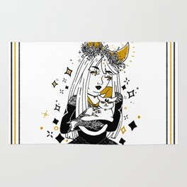 Moon Witch - Gold phase Rug