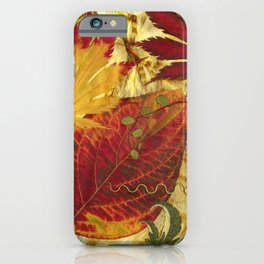 Fall Pressed Leaves iPhone Case
