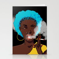 detroit Stationery Cards featuring Detroit by Sasha Dee Richardson