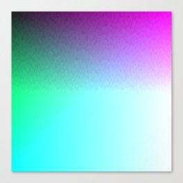Six Color Ombre Cyan, Purple, Green, Pink, Purple, Blue, Spectrum Flame Canvas Print