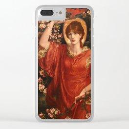 A Vision of Fiammetta 1878 Dante Gabriel Rossetti Clear iPhone Case