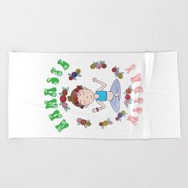 Namaste All Day  Beach Towel