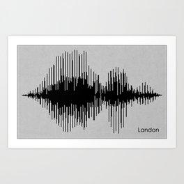 Landon Name Print Art Print