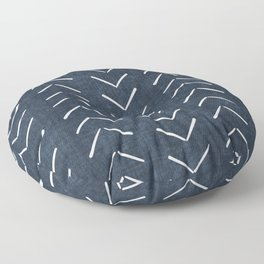 Mud Cloth Big Arrows in Navy Floor Pillow
