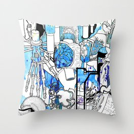 Distant Parts Throw Pillow