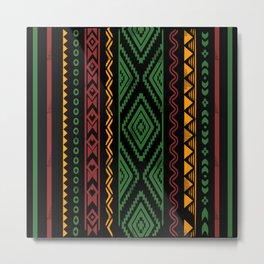 African pattern Design, pattern Art, Pattern printable, Pattern vector, Pattern for printing, fabric Pattern,  Metal Print