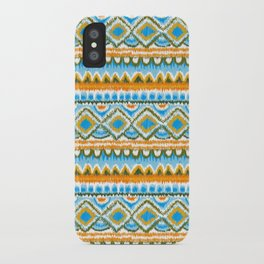 Desert Sunrise Ikat iPhone Case
