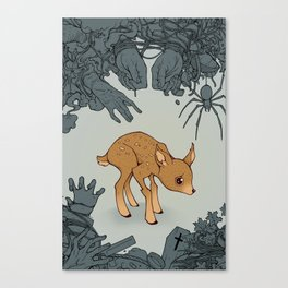 Deer in the Headlights Canvas Print