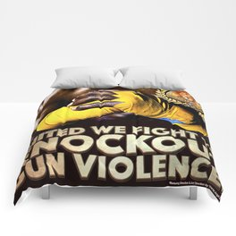 United We Fight to Knockout Gun Violence Comforters