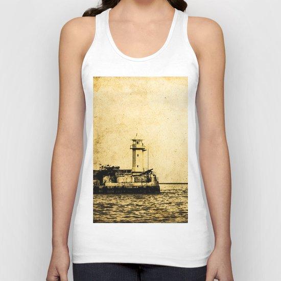 Old Lighthouse (vintage) Unisex Tank Top