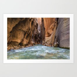 Swept Away (The Narrows, Zion National Park, Utah) Art Print