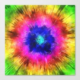 Starburst Tie Dye Watercolor Canvas Print
