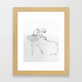 """Shorty get down, good lord"" Framed Art Print"