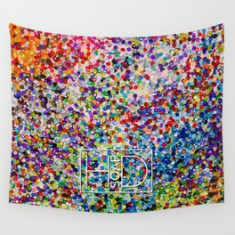 Logo on Sequins Wall Tapestry