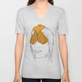 Fish Face Unisex V-Neck