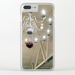 White Chandelier Clear iPhone Case