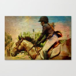 Girl Equestrian  Canvas Print