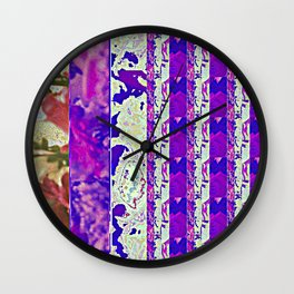 Rose Collage 1 Wall Clock