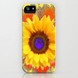 Yellow Sunflowers & Lilac Purple Patterns iPhone Case