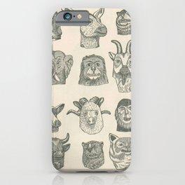 Paper Mache Animal Heads iPhone Case