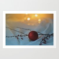 Red as a berry Art Print