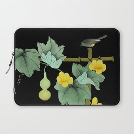 Squash Vine and Bird Laptop Sleeve