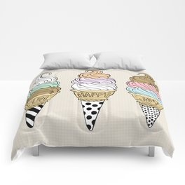 Happy Ice Creams Comforters