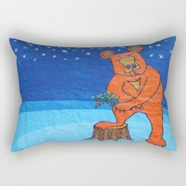 The bear . Rectangular Pillow