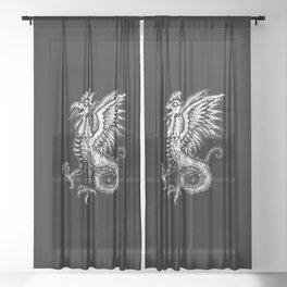 chicken Sheer Curtain