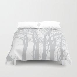 Grey Trees Duvet Cover